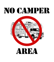No Camper Area